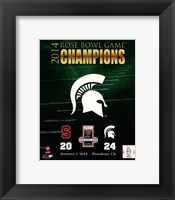 Framed Michigan State Spartans 2014 Rose Bowl Champions Logo