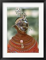 Framed Portrait of a teenage girl smiling, Kenya