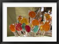 Framed Close-up of lollipops, Hippie Market, San Carlos de Bariloche, Rio Negro Province, Patagonia, Argentina