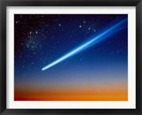 Framed Space, Comet speeding across the night sky