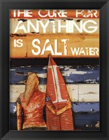 Framed Salt Water Cures Anything