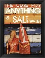 Framed Salt Water Cures Anything