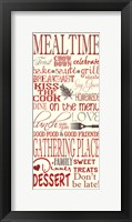 Mealtime Framed Print
