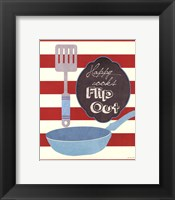Flip Out Framed Print