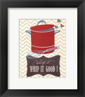 Whip It Good Framed Print