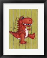 Framed Red Rex