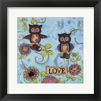 Framed Love Owl