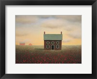Framed Old Farmhouse at Sunrise