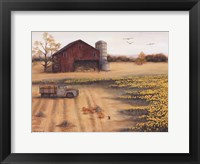 Framed Barn & Sunflowers II
