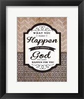 What You Make Happen Framed Print