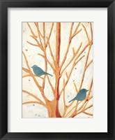 Framed Two Birds In an Orange Tree