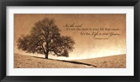 Life in Your Years Framed Print