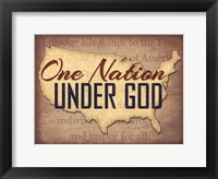 Framed One Nation Under God