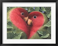 Framed Feathered Heart