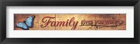 Framed Family Gives You Wings