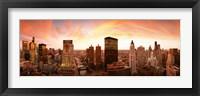 Framed Sunset Skyline Chicago IL