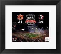 Framed 2014 BCS National Championship Florida State Seminoles vs. Auburn Tigers at the Rose Bowl
