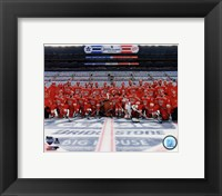 Framed Detroit Red Wings Team Photo 2014 NHL Winter Classic
