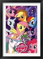 Framed My Little Pony - Collage