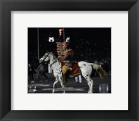 Framed Florida Seminoles mascots Chief Osceola & Renegade 2014 BCS National Championship Game