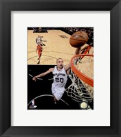 Framed Manu Ginobili Spurs Basketball