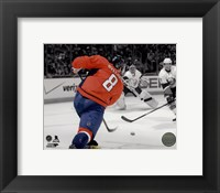 Framed Alex Ovechkin 2013-14 Spotlight Action