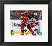 Framed Patrik Elias 2014 NHL Stadium Series Action