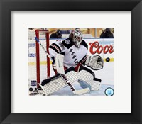 Framed Henrik Lundqvist 2014 NHL Stadium Series Action