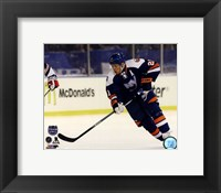Framed Kyle Okposo 2014 NHL Stadium Series Action