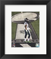 Framed Richard Sherman Super Bowl XLVIII Action