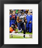 Framed Doug Baldwin Super Bowl XLVIII Action
