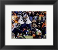 Framed Marshawn Lynch Super Bowl XLVIII Action