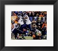 Framed Marshawn Lynch Super Bowl XLVIII Action