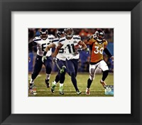 Framed Percy Harvin Running a Touchdown Super Bowl XLVIII