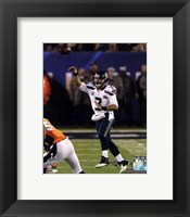 Framed Russell Wilson in the Super Bowl XLVIII