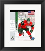 Framed Zach Parise- USA Portrait Plus