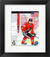 Framed Patrick Kane- USA Portrait Plus