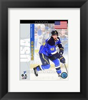 Framed David Backes - USA Portrait Plus