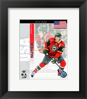 Framed Ryan Suter - USA Portrait Plus