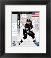 Framed Dustin Brown - USA Portrait Plus