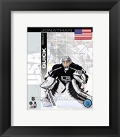 Framed Jonathan Quick - USA Portrait Plus