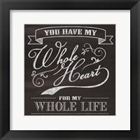 Framed Whole Heart