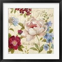Marche Jardin Framed Print