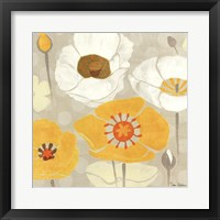Framed Sunshine Poppies II Square