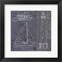 Coastal Blueprint III Framed Print