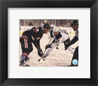 Framed Jonathan Toews & Sidney Crosby 2014 NHL Stadium Series Action