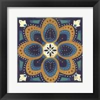 Framed Proud as a Peacock Tile I