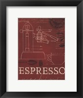 Coffee Blueprint IV v Framed Print