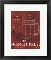 Coffee Blueprint I v Framed Print