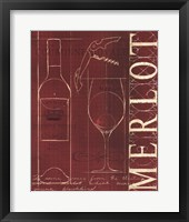 Wine Blueprint II v Framed Print